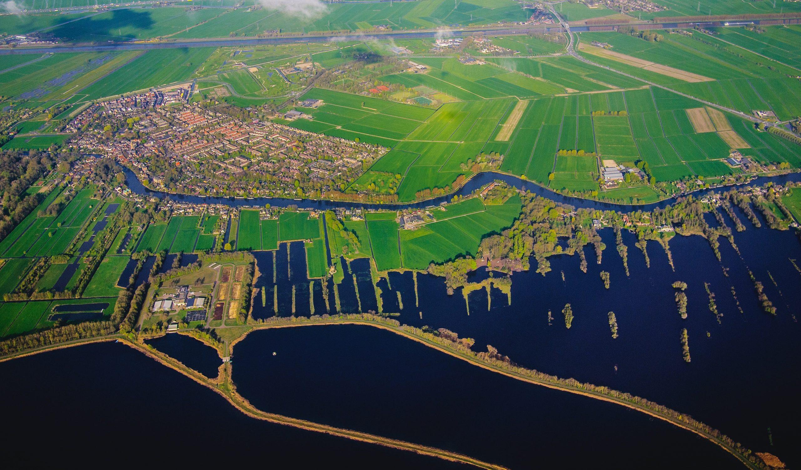 Luchtfoto werkgebied waterschap